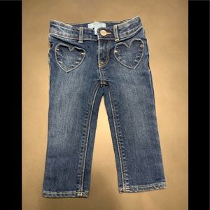 BABY GAP SKINNY FIT HEART JEANS GIRLS 18-24